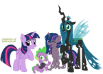 (Commission) The twililing family photo by kuren247