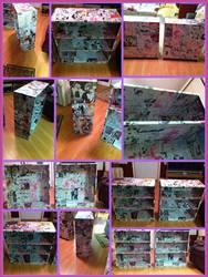 Manga bookshelf collage by Ash-a-bash