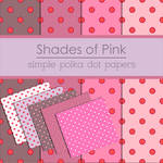 Simple Pink Polka Dot Papers