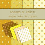 Simple Yellow Polka Dot Papers