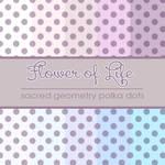 Flower of Life Polka Dots
