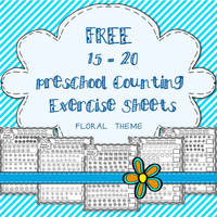 Free Preschool Counting Exercise Sheets