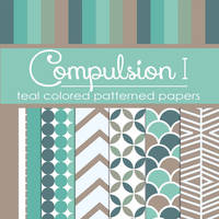 Compulsion I: Teal Colored Pattern Papers (FREE) by TeacherYanie