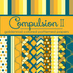 Compulsion II: Goldenrod Colored Pattern Papers
