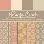Free Navajo Peach Patterned Papers