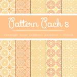 Free Pattern Pack 8: Orange Floral Patterns