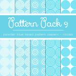 Free Pattern Pack 9: Powder Blue Circles