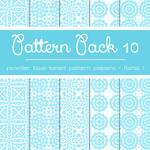 Free Pattern Pack 10: Powder Blue Floral 1