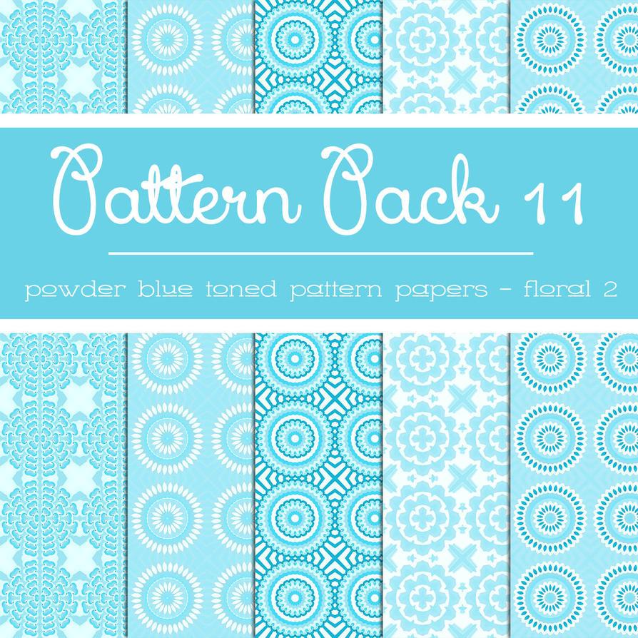 Free Pattern Pack 11: Powder Blue Floral 2 by TeacherYanie