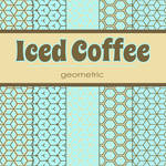 Free Iced Coffee: Geometric Patterned Papers