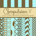 Compulsion V: Iced Coffee Themed Pattern Papers