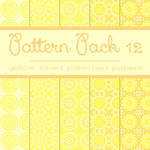 Free Pattern pack 12: Yellow Patterned Papers
