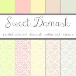 Free Sweet Damask: Damask Patterned Papers