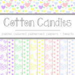 Free Cotton Candies: Heart Patterned Papers