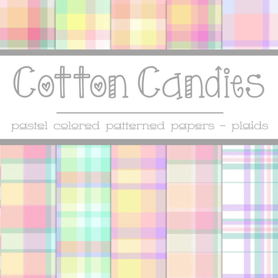 Free Cotton Candies: Pastel Plaids by TeacherYanie