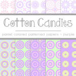 Free Cotton Candies: Purple Patterned Papers