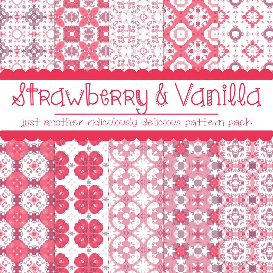 Photoshop Free Strawberry Vanilla Pattern free_strawberry_and_