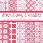 Free Strawberry and Vanilla Pattern Pack
