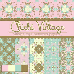 Free Chichi Vintage Patterned Papers