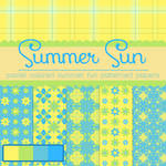 Free Summer Sun Patterned Papers