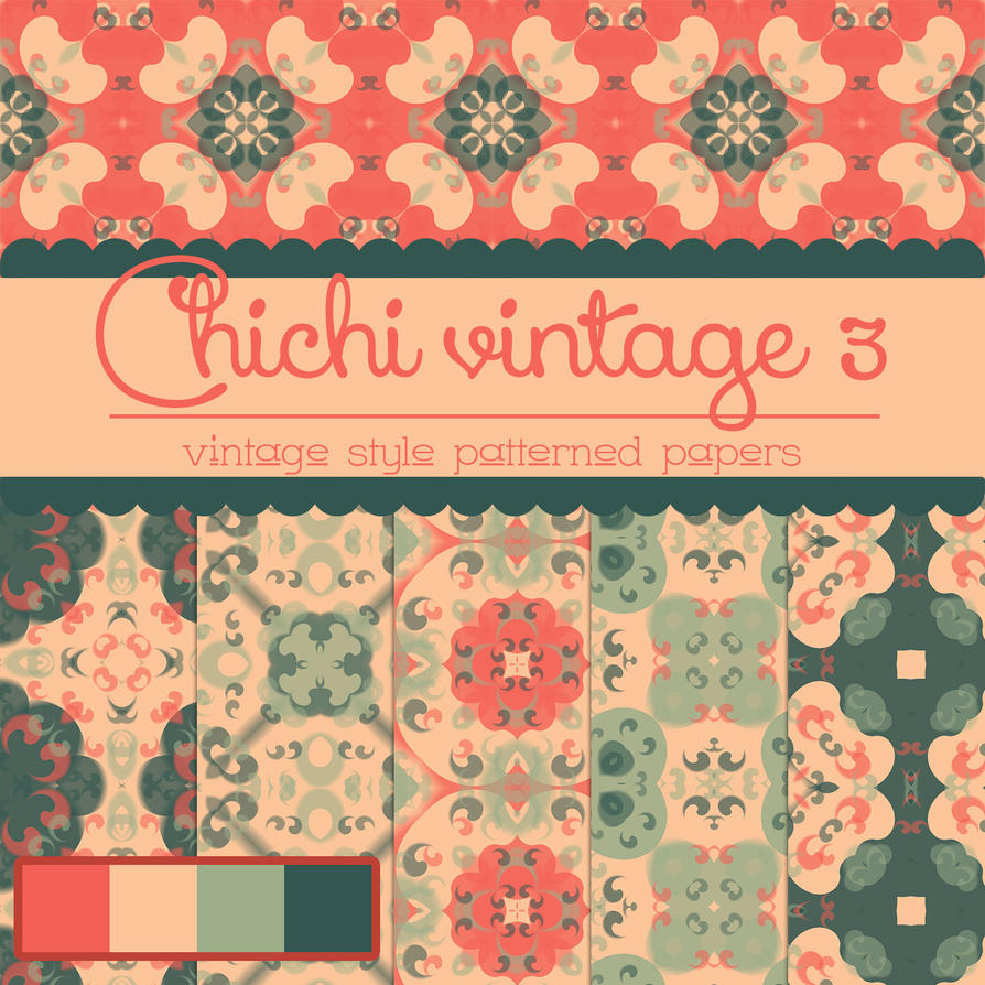 Photoshop Vintage Patterned Papers free_chichi_vintage_