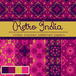 Free Retro India Patterned Papers