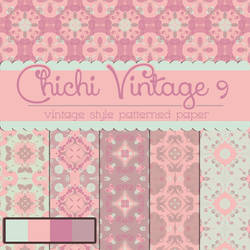 Free Chichi Vintage 9 Patterned Papers