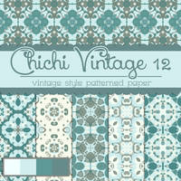 Free Chichi Vintage 12 Patterned Papers