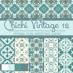 Free Chichi Vintage 12 Patterned Papers by TeacherYanie