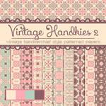 Free Vintage Handkies 2 Patterned Papers
