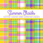 Free Summer Plaids Patterned Papers