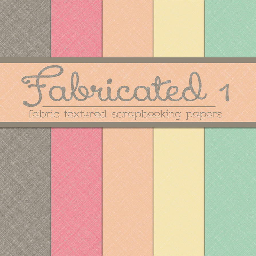 Free Fabricated 1: Fabric Textured Papers by TeacherYanie