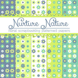 Free Nurture Nature Floral Papers