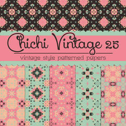Free Chichi Vintage 25 Patterned Papers