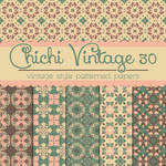 Free Chichi Vintage 30 Patterned Papers