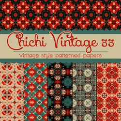 Free Chichi Vintage 33 Patterned Papers