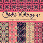 Free Chichi Vintage 41 Patterned Papers