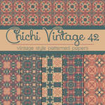 Free Chichi Vintage 42 Patterned Papers