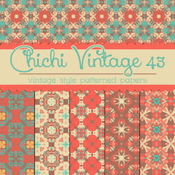 Free Chichi Vintage 43 Patterned Papers