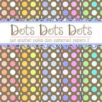 Free Polka Dots Patterned Papers 2