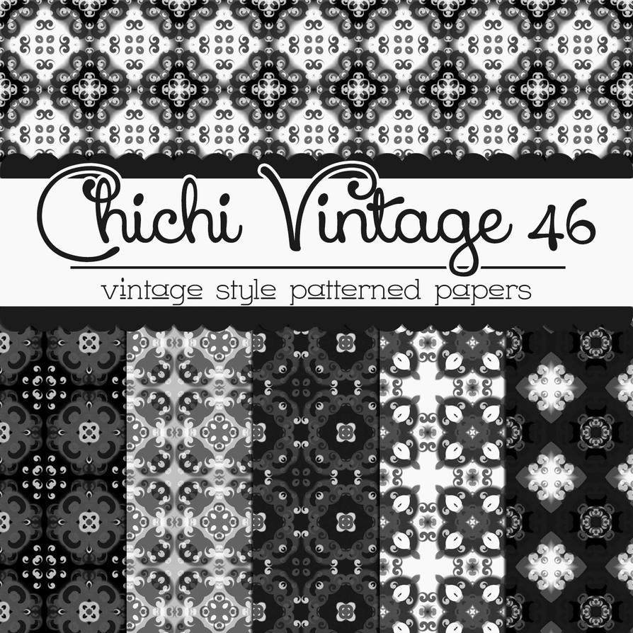 Free Chichi Vintage 46 Patterned Papers by TeacherYanie