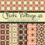 Free Chichi Vintage 48 Patterned Papers