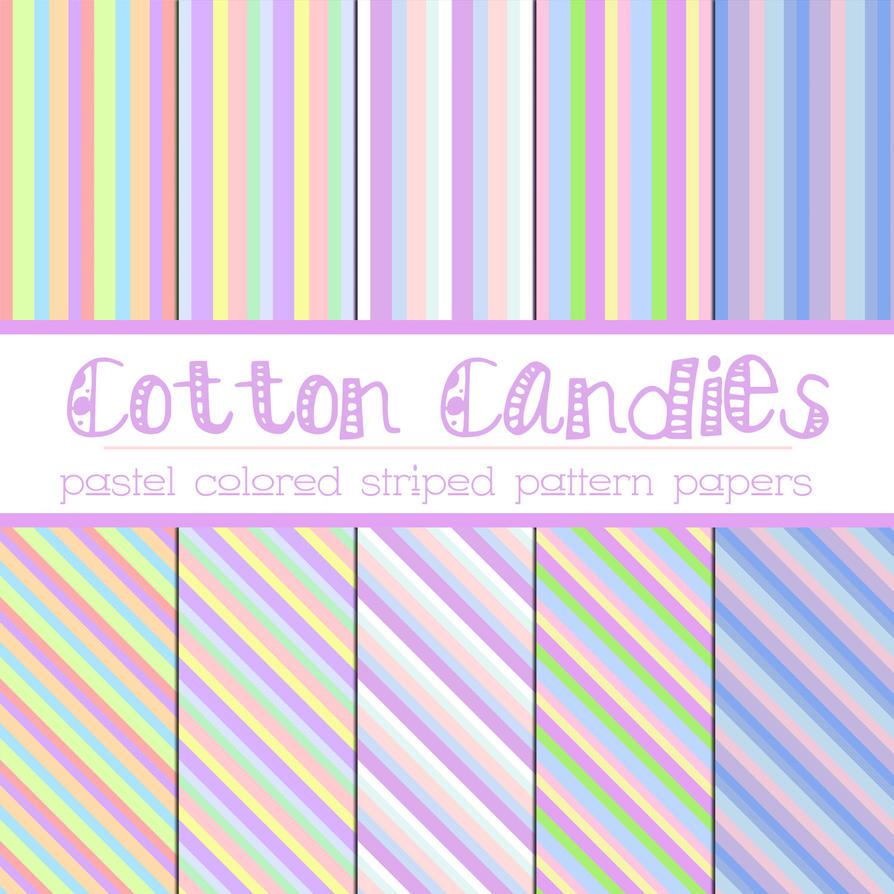 Free Cotton Candies: Pastel Stripes by TeacherYanie