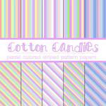 Free Cotton Candies: Pastel Stripes