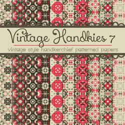 Free Vintage Handkies 7 Patterned Papers by TeacherYanie