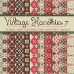 Free Vintage Handkies 7 Patterned Papers