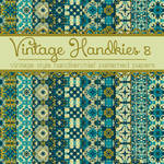 Free Vintage Handkies 8 Patterned Papers