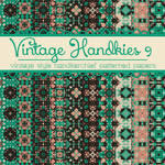 Free Vintage Handkies 9 Patterned Papers