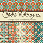 Free Chichi Vintage 52 Patterned Papers