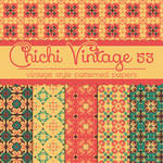 Free Chichi Vintage 53 Patterned Papers